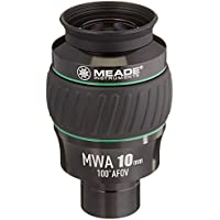 Meade Instruments 607016 Eyepiece, 100 Degree, MWA 10MM, 1.25-Inch (Black/Green)