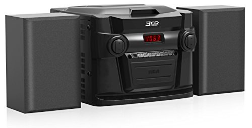 RCA (RS22363) 3-Disc CD Stereo Audio System – Digital AM/FM Tuner