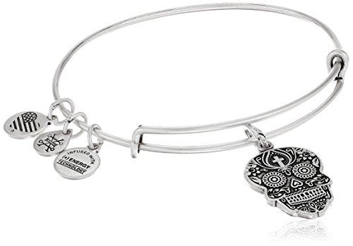 - Alex and Ani Calavera Rafaelian Silver Bangle Bracelet