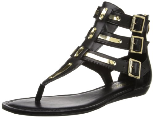 Fergie Women's Samba Gladiator Sandal,Black,6.5 M US