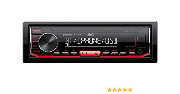 Negro, 1 DIN, 50 W, Giratorio, MOSFET, LCD JVC KD-X362BT Receptor Multimedia para Coche Negro Bluetooth Radio para Coche