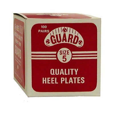 Guard Plastic Plates Box for Shoe & Boot Size 5 (2 1/8'') - 100 Pairs by Traveler