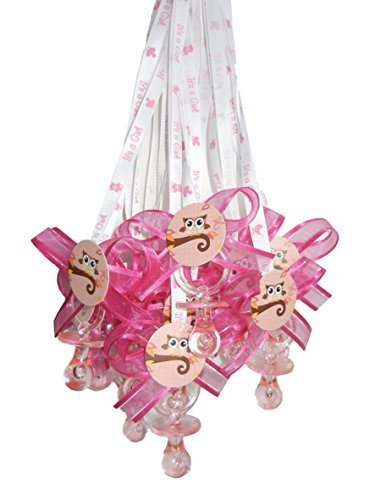 Owl It's a Girl Baby Shower Pacifier Necklace Game (12) Party Pack by Party Supplies]()
