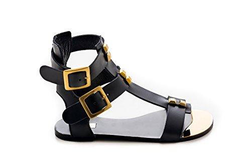 Raggini Fashion Women's Sandals Antonio Black aq4CvAx4w