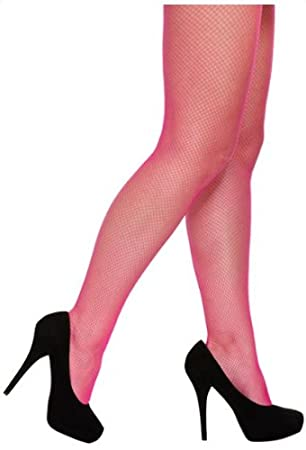 2bc4cbc9b3dc4 Neon Pink Fishnet Tights One Size: Amazon.co.uk: Toys & Games