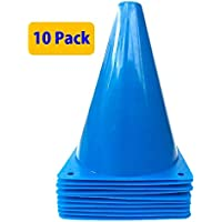 WOWGEEK 7.5 Inch Plastic Sport Training Traffic Cone 10 Traffic Safety Cones Sign Sport Soccer Football Training Cones