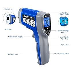 Etekcity Lasergrip 774 Non-contact Digital Laser Infrared Thermometer Temperature Gun -58?~ 716? (-50? ~ 380?)