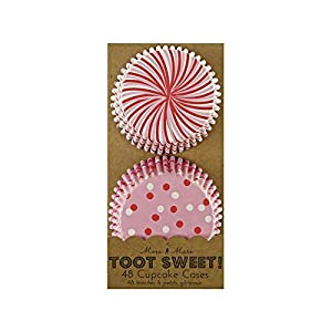 Toot Sweet Cupcake Cases, Pink 48 per pack - Pack of 2