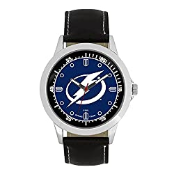 NHL Tampa Bay Lightning Mens Player Series Wrist Watch, Silver, One Size