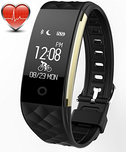 Bicycle Monitor (Bitwatch HR Pro Activity and Fitness Tracker - Smart Sports Watch with Heart Rate Monitor Step Pedometer Sleep Monitor Bicycle Exercise Timer)