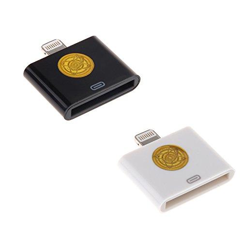Premium Lightning Converter Connector Black White product image