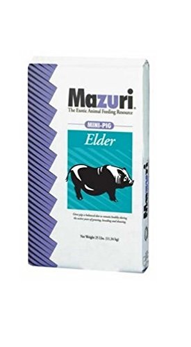 Mazuri Mini Pig Elder Diet Pig Food, 25 Pound Bag (50 Lb Bag Of Guinea Pig Food)