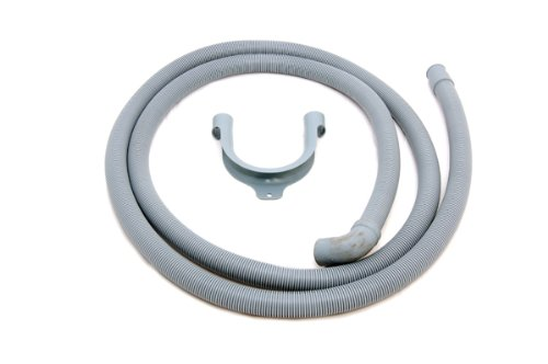 2.5m WASHING MACHINE DISHWASHER OUTLET DRAIN HOSE Bore 21 mm 1 x 90º end Suitable for: Universal fitting ELECTRUEPART