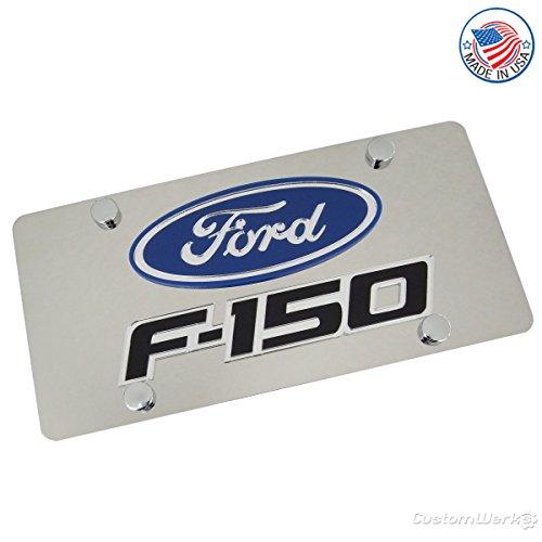 Ford Laser-Cut Logo & F-150 Name On Polished License Plate