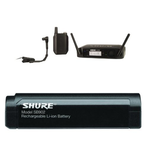 Shure GLXD14/B98 Digital Instrument Wireless System with Beta 98H/C Microphone, Z2 With Shure SB902 Rechargeable Lithium-Ion Battery for GLX-D Bundle