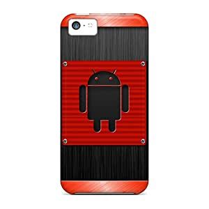 Ideal Jeffrehing Case Cover For Iphone 5c(android Red), Protective Stylish Case