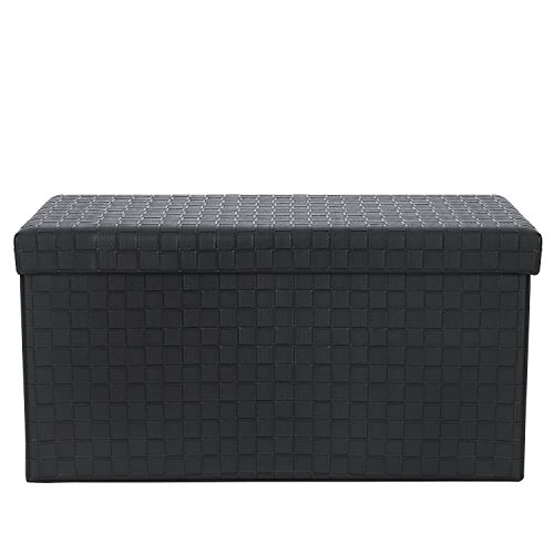 Poly and Bark Preston Rectangular Storage Ottoman in Black