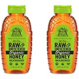 Nature Nate's 100% Pure Raw & Unfiltered Organic Honey; Made by Brazilian Bees and Packaged in a 16-oz. Squeeze Bottle; Enjoy Honey's Balanced Flavor and Wholesome Benefits, Just as. (2 Pack)