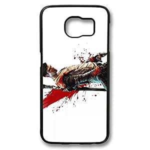 Samsung S6 Case, Galaxy S6 Case - Hihgly Protective Hard Case Bumper for Samsung Galaxy S6 Dante Devil May Cry 3 Shock-Absorption Black Hard Back Case for Samsung Galaxy S6