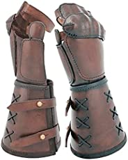 Faux Leather Arm Bracer, Adjustable Buckles Medieval Retro Gauntlets Guard Knight Armour Warrior Arm Cuff Armo