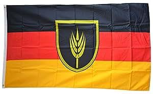 FahnenMax–Bandera Wolga Deutsche + Gratis Pegatinas, Flaggenfritze–Bandera, Hissflagge 90 x 150 cm