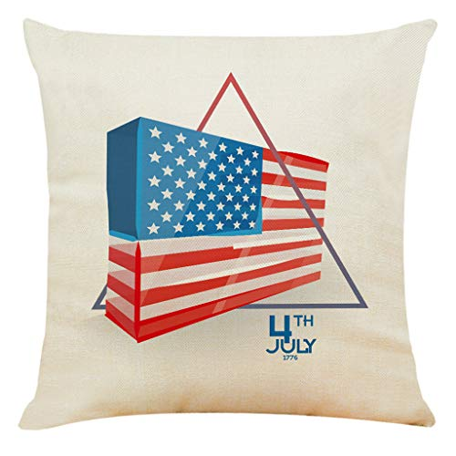 - Sanmenxia American USA Flag Cushion Cover, Retro Fourth of July Independence Day Painted Pillow case Pillowcase(Multicolor)