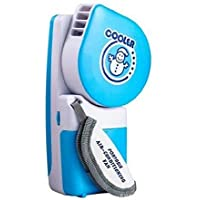 Portable Small Bladeless Fan Mini-air Conditioner, Runs On Batteries Or USB Cable Summer Fan Blue
