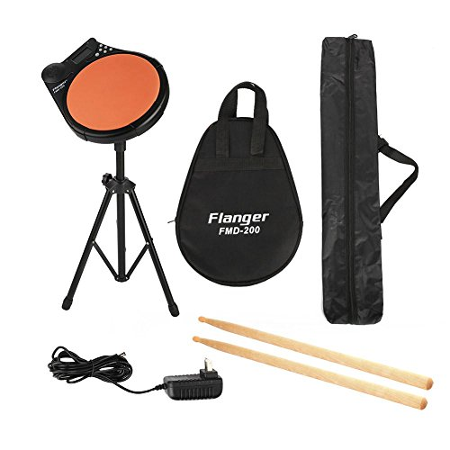 Electronic Digital Drum Metronome Pad with Sticks, Mute Drum Practice Pad with Stand & Bag Practice Drum Metronome Drummer Practice Pad Portable Training Tool by Vbestlife