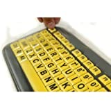 Biosafe Anti Microbial Keyboard Cover for EZ Eyes Large Print Keyboard - Protect From Dirt, Dust, Liquids and Contaminants, Fights Microbes and Germs which may Adhere to Typing Finger Tips - Clean Solution for Laboratories, Hospitals, and Clean Rooms - The Keyboad is not Included