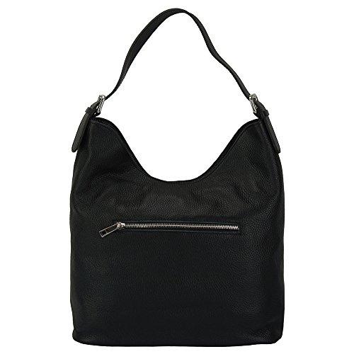 Vachette Porté Épaule Leather 9115 Sac Market De Cuir En Noir Veritable Florence Marita dwtvIPxtq