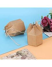 Presentask Kraftpapper Pappersgodislåda Lätt att bära 50st för användning i bröllopsfödelsedagsfest