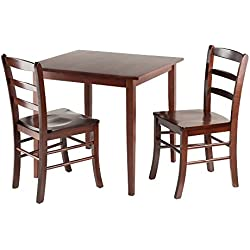 Winsome Groveland Square Dining Table with 2 Chairs, 3-Piece