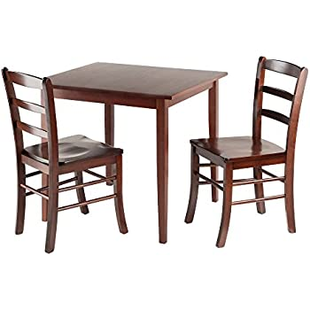 Winsome Groveland Square Dining Table With 2 Chairs, 3 Piece
