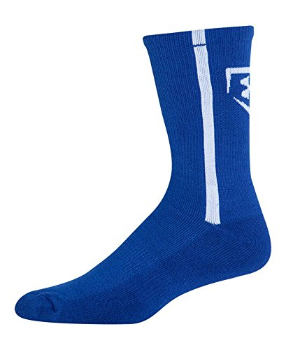 Under Armour Men's Baseball Crew Socks , Royal/White, Large