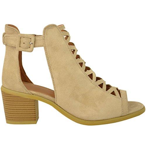 Cordones Sandalias EN Mujer Fashion Bajo Ante Thirsty a Cu Zapatos Artificial Tobillo Tira con Corte Talla Carne A0FxqpgwxB