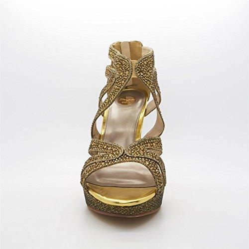 Poze Gold - plataforma mujer Dorado - dorado