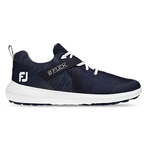 FootJoy Men's Flex Golf Shoes Blue 9 M, Navy, US