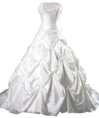 Faironly Taffeta Strapless Wedding Dress (XL, Ivory)