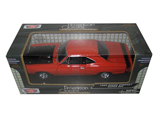 [1969 Dodge Coronet Super Bee Orange 1/24 by Motormax 73315] (1969 Dodge Coronet Super Bee)