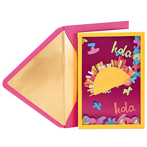 Hallmark Signature Birthday Card (Taco Confetti)