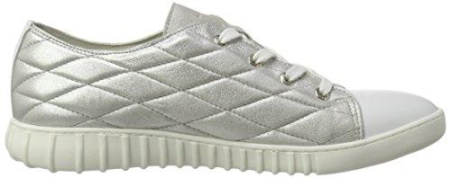 Marc Shoes Fabiola, Zapatos de Cordones Derby para Mujer Weiß (Metal-White 221)