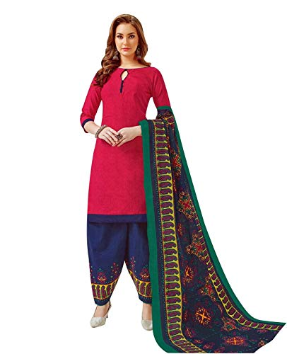 ladyline Cotton Printed Salwar Kameez Ethinc Patiala Salwar Style