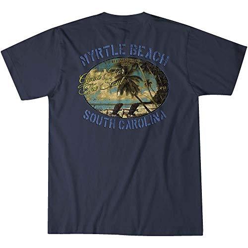 (Island Jay Myrtle Beach Good for The Soul T-Shirt Navy)
