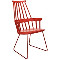 Kartell Set 2 Comback - orange red armchair (Original made in Italy)