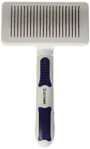 Petcessory Dog Cat Shed Grooming Brush, Small, White