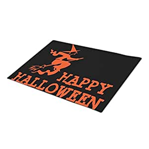 B.R.Z Outdoor Floor Mats Haunted Boo Witch