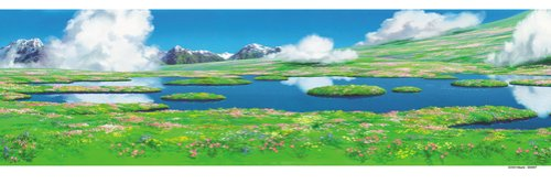 Studio Ghibli Cosplay Costumes - 950-204 of Secret Garden of 950 Piece Studio Ghibli Background Art Series Howl