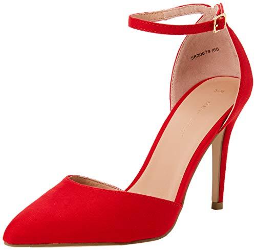 Scarpe New Donna 60 Semper Look Chiusa Red Punta Col Tacco Rosso bright rrpERwq