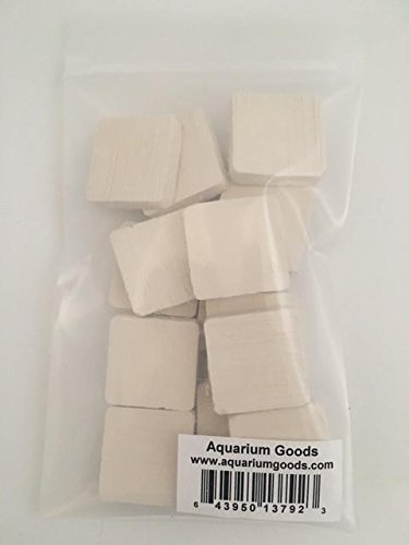 Coral Tile - Aquarium Goods 15 Ceramic Square Tiles for Coral Frag Propagation