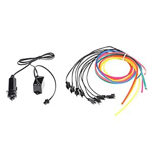 1 Meter Flexible Car decorativo Neon Light 4mm EL Wire Rope Car Inverter con luz